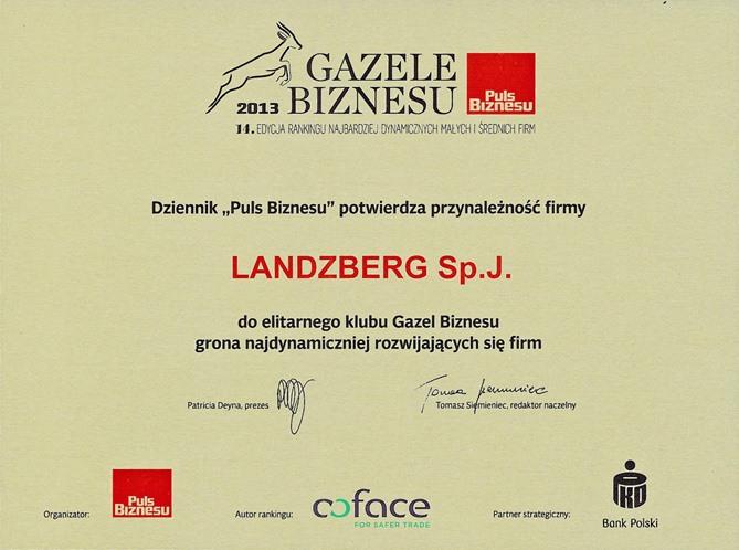 Gazele Biznesu 2013 - Landzberg